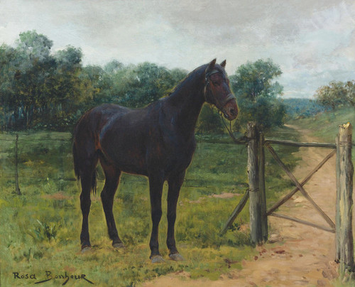 Art Prints of Horse Tied to a Gate by Rosa Bonheur