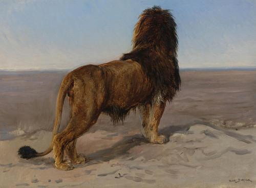 Art Prints of Lion, the Lookout by Rosa Bonheur