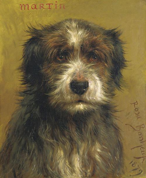 Art Prints of Martin, a Terrier by Rosa Bonheur