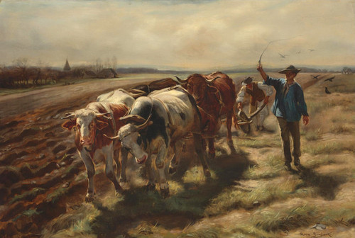 Art Prints of Oxen Plowing by Rosa Bonheur