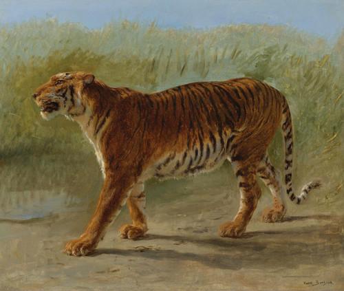 Art Prints of Royal Tiger Marching by Rosa Bonheur