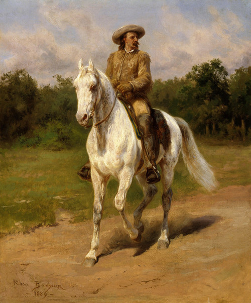 Art Prints of Portrait of William Cody or Buffalo Bill by Rosa Bonheur