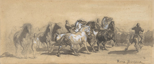 Art Prints of Study for the Horsefair by Rosa Bonheur