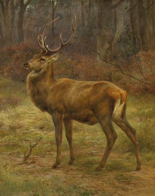 Art Prints of Stag in an Autumn Landscape by Rosa Bonheur