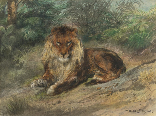 Art Prints of The Old Monarch by Rosa Bonheur