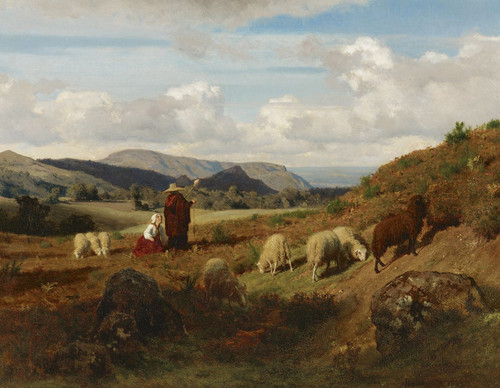 Art Prints of Shepherds and Their Flock by Rosa Bonheur