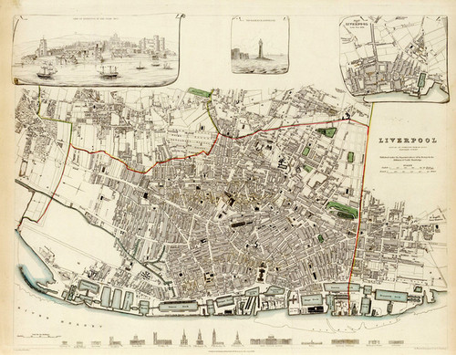 Art Prints of Liverpool, 1836 (0890182) by S.D. of Useful Knowledge Great Britain
