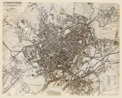 Art Prints of Great Britain, Birmingham, 1839 (0890164), Great Britain Map