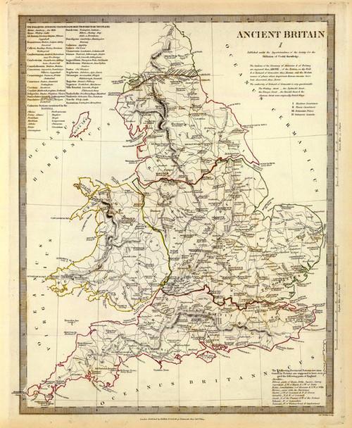 Art Prints of Ancient Britain, 1834 (0890023), Great Britain Map