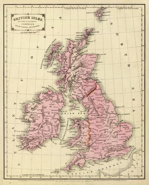 Art Prints of British Isles, 1864 (0197021) by S.S. Sarah