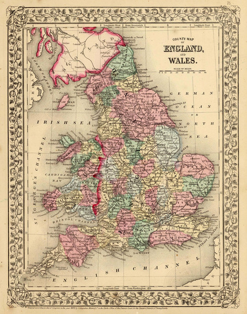 Art Prints of England and Wales, 1870 (2483047) by Samuel Augustus Mitchell