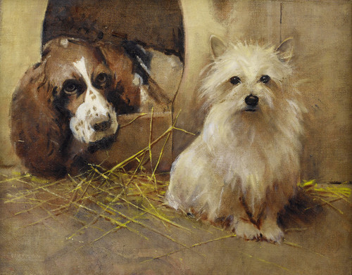 Art Prints of A Springer Spaniel and a Terrier by Samuel Fulton