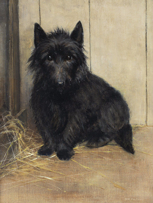 Art Prints of Study of a Terrier by Samuel Fulton