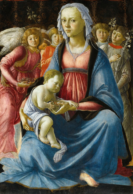 Art Prints of Madonna with Angels and Five Saints by Sandro Botticelli
