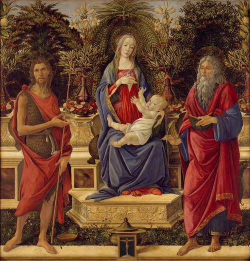 Art Prints of Madonna with Saints by Sandro Botticelli