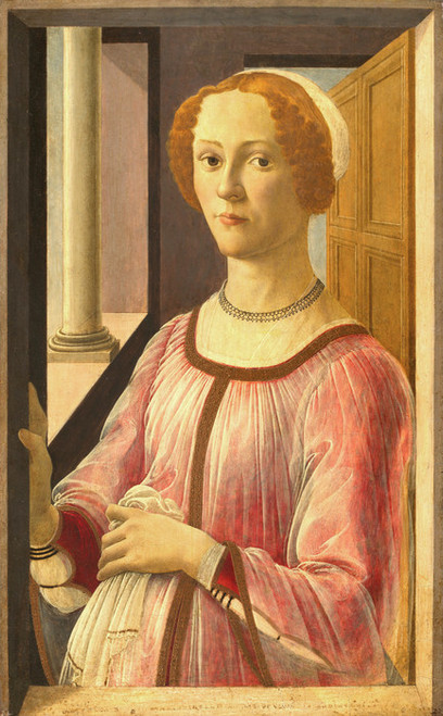 Art Prints of Portrait of a Lady known as Smeralda Bandinelli by Sandro Botticelli