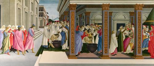 Art Prints of Three Miracles of Saint Zenobius by Sandro Botticelli