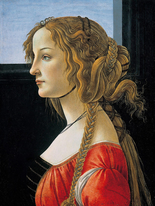 Art Prints of Portrait of a Young Woman by Sandro Botticelli