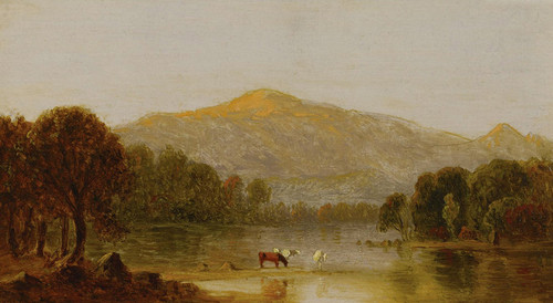 Art Prints of Mount Washington from the Saco River by Sanford Robinson Gifford