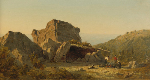 Art Prints of The Camp on Mansfield Mountain, Vermont by Sanford Robinson Gifford