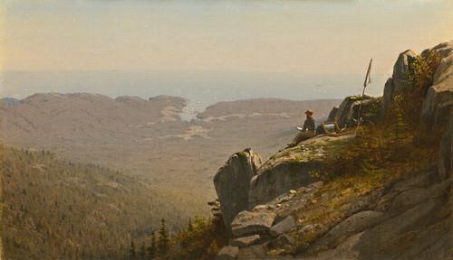 Art Prints of Artist Sketching at Mount Desert, Maine by Sanford Robinson Gifford