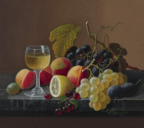 Art Prints of Still Life of Fruit with Lemon by Severin Roesen