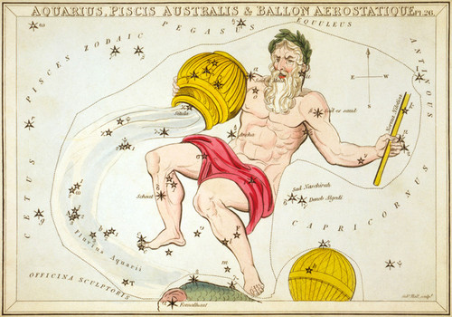 Art Prints of Aquarius, Plate 26, View of the Heavens by Sidney Hall