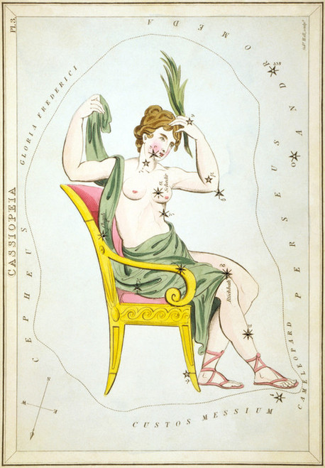 Art Prints of Cassiopeia, Plate 3, View of the Heavens by Sidney Hall