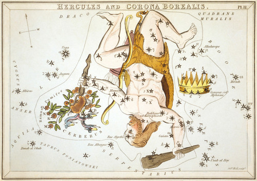 Art Prints of Hercules, Plate 11, View of the Heavens by Sidney Hall