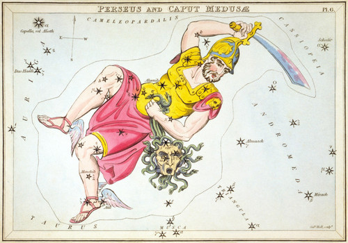 Art Prints of Perseus and Caput Medusa, Plate 6, View of the Heavens by Sidney Hall