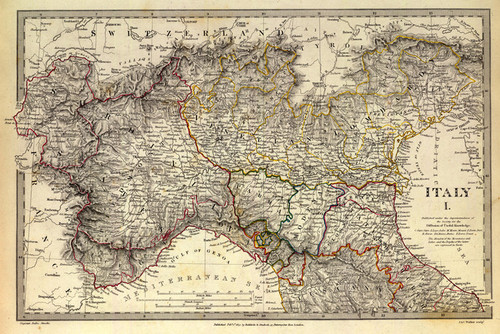 Art Prints of Italy I, 1832 (0890038), Great Britain Map