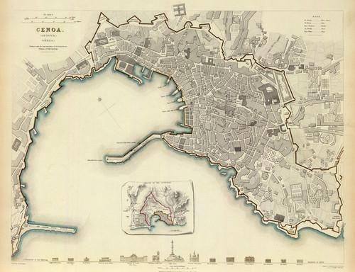 Art Prints of Genoa, 1836 (0890179), Great Britain Map
