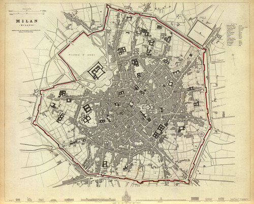 Art Prints of Milan, 1832 (0890188), Great Britain Map