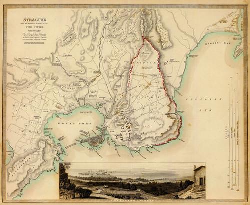 Art Prints of Syracuse, 1839 (0890204), Great Britain Map