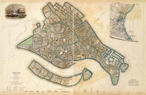 Art Prints of Venice, 1838 (0890207), Great Britain Map