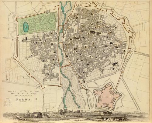 Art Prints of Parma, 1840 (0890197), Great Britain Map