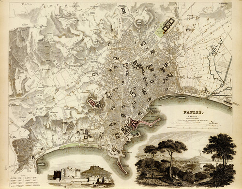 Art Prints of Naples, 1835 (089019), Great Britain Map, and George Arnald