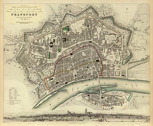 Art Prints of Frankfurt, 1837 (0890177), Great Britain Map
