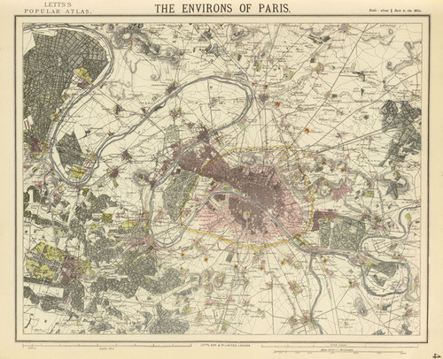 Art Prints of Environs Paris, 1883 (5371038), Son and Co. Letts