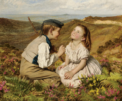 Art Prints of It's Touch and Go to Laugh or No by Sophie Anderson
