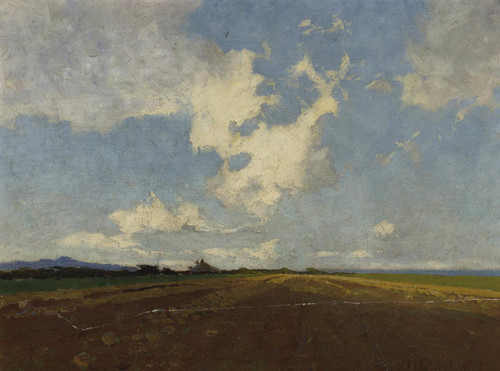 Art Prints of A Mangold Field by Sydney Laurence