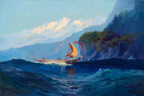 Art Prints of Chilkat Indian Canoe II by Sydney Laurence