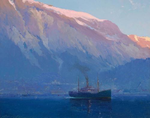 Art Prints of Early Morning Juneau Alaska by Sydney Laurence