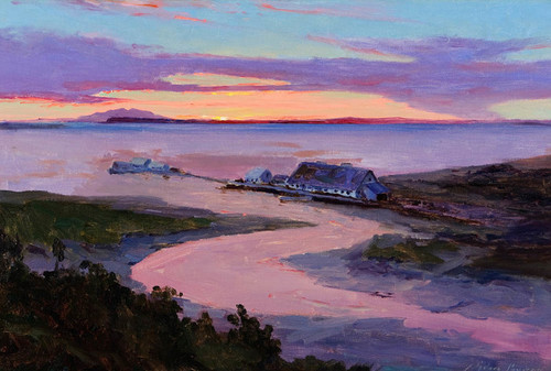 Art Prints of Early Anchorage Alaskan Salmon Cannery by Sydney Laurence