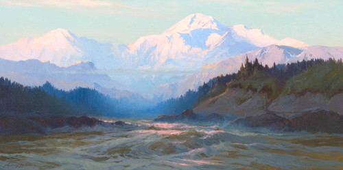 Art Prints of Mount McKinley from the Tokositna River by Sydney Laurence