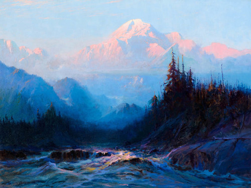 Art Prints of Mt. McKinley Above the Tokosheetna, 1925 by Sydney Laurence