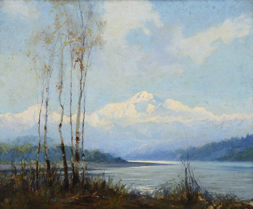 Art Prints of Mt. McKinley from the Susitna River by Sydney Laurence