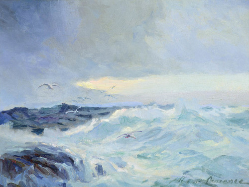Art Prints of Seascape with Gulls by Sydney Laurence