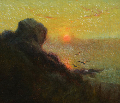 Art Prints of The Setting Sun Anchorage Alaska, 1920 by Sydney Laurence