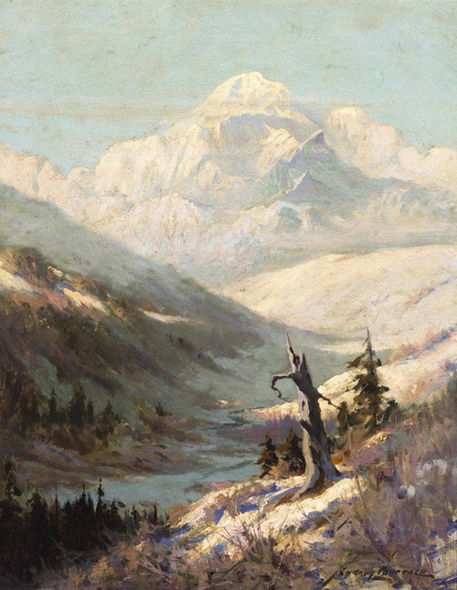 Art Prints of A View of Mt. McKinley by Sydney Laurence